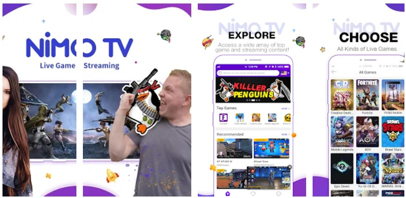 nimo tv live streaming