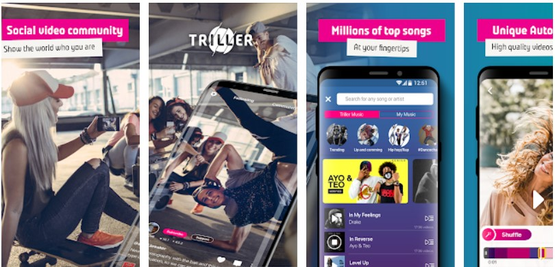 apps like tiktok triller houseparty