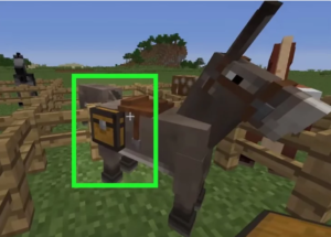 Placing a chest on a horse