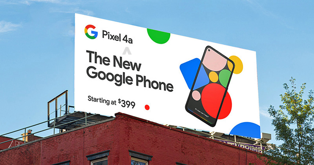 Pixel 4a price billboard