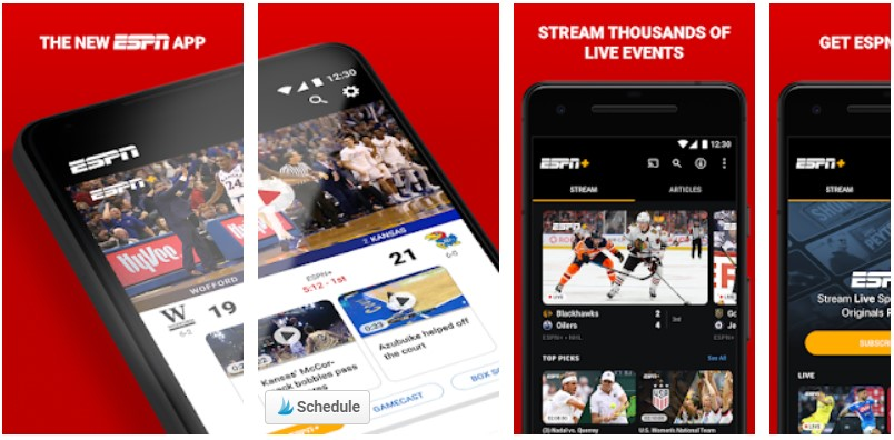 espn sports app for android
