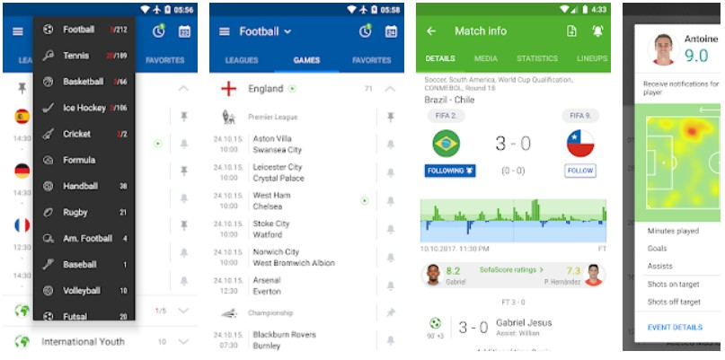 sofascore free football sports app for android ios